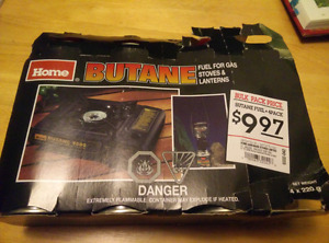3 cans of Butane for gas stoves