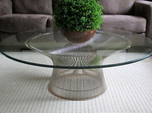 "KNOLL PLATNER COFFEE TABLE - NICE CONDITION - 42.25"" DIAMETER"