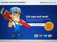 Plumbing Services in the Kitchener/Cambridge/Brantford area