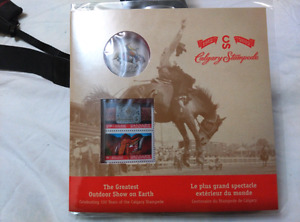 100 Years of Calgary Stampede 25 Coin and Stamp 999 fine silver