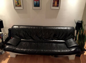 3 seater couch all leather sofa