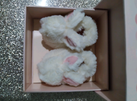Doudou bonbon baby bunny slippers Rose