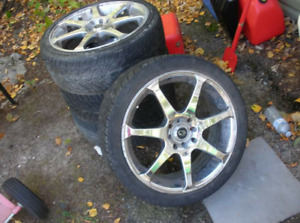 17 inch Core Racing Evo-7 Rims with tires