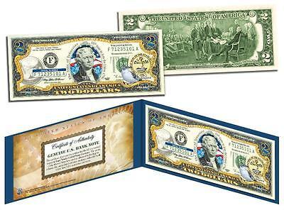 TENNESSEE Statehood $2 Two-Dollar Colorized U.S. Bill TN State *Legal Tender*