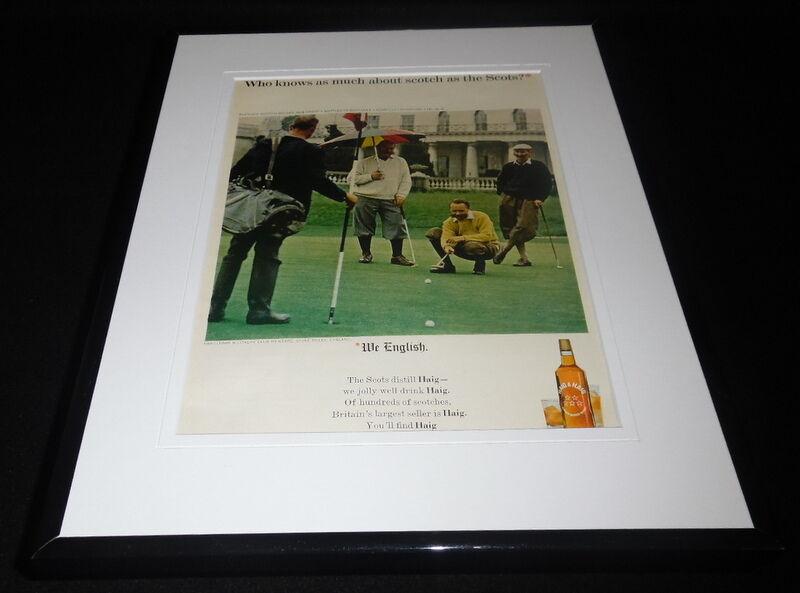 1965 Haig & Haig Scotch / Golf 11x14 Framed ORIGINAL Vintage Advertisement