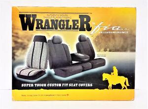 Fia TR47-37 Black Saddle Blanket Seat Covers 2014-2017 Ford Tran