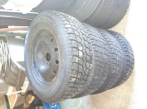 225 70 16 Snow tires and rims from Ford Freestar