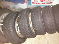 **185/65/14** NEXEN STUDDED WINTER TIRES w/ RIMS - $250!