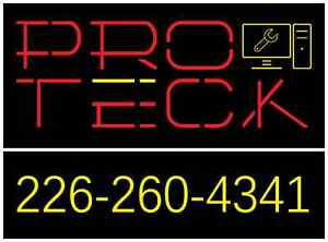 PROTECK COMPUTER REPAIR - ON-SITE OR DROP OFF - 226~260~4341
