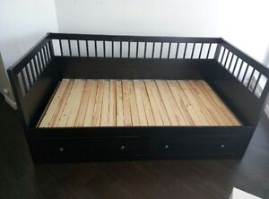 IKEA HEMNES Daybed Frame with storage, dark gray stained