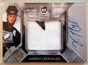 UD THE CUP LIMITED LOGOS AUTO. VINCENT LECAVALIER 2007
