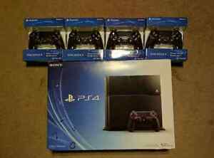 Brand New Sony Play Station 4 With 4 Extra Controller