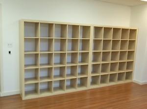 Beautiful Birch Shelving Units in Excellent Condition
