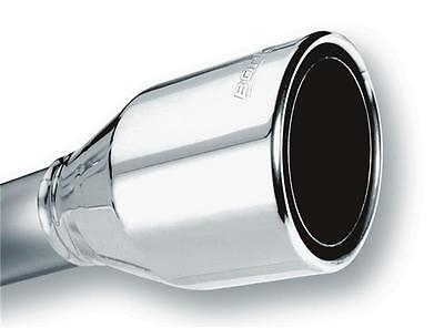 Borla Universal Round Rolled Angle Cut Phantom Long Embossed Exhaust Tip  Cut Rolled Tips