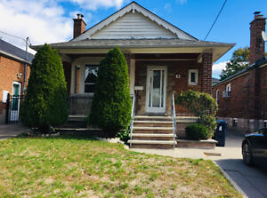 Detached 2+1 BDRM Full House for Rent in desired East York!