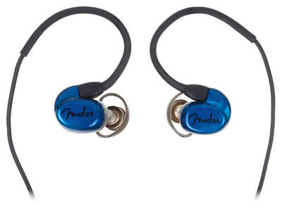 Fender CXA1 In-Ear Monitor Headphones with 3-Button Mic Blue Professional