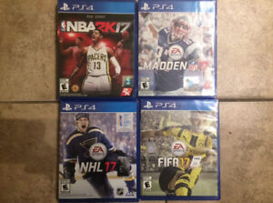 Jeux PS4 2017 :NHL 17,Madden 17,Fifa 17 et NBA 2K17