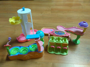 Lot of playsets for little ponies