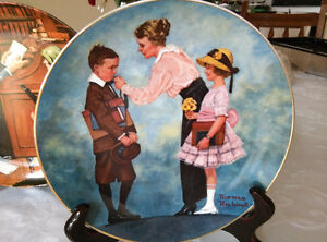 Norman Rockwell Plate First Day of School Days to Remember 1984