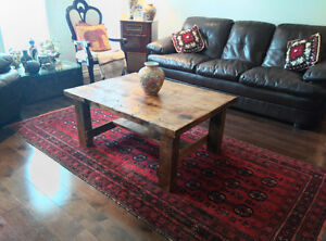 Reclaimed and salvaged solid wood coffee table