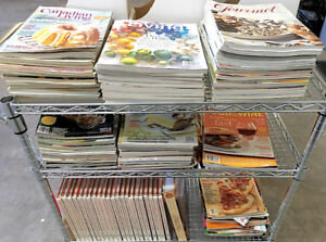Collection of Cooking Books and Cooking Magazines, 129 items.