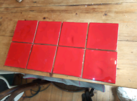 Fired Earth deep red tiles
