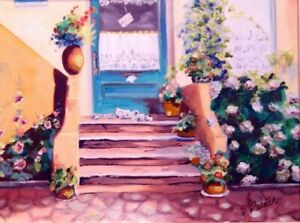 Peinture à l'huile thème paysage et milieu urbain - 80%