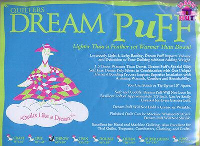 140228012- Quilter's Dream Puff Throw 60 X 60 High Loft Fluffy Quilt Batting
