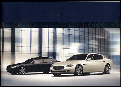 2007 Maserati Quattroporte & Executive GT & Sport GT sales brochure