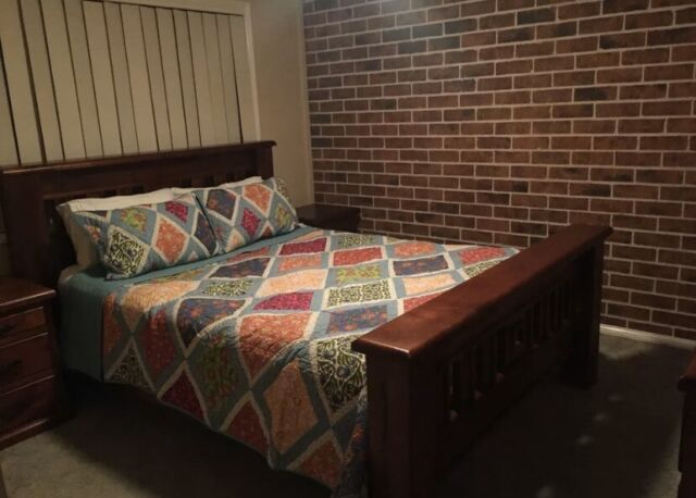Queen Bed , 2 side tables and dresser   Beds   Gumtree ...