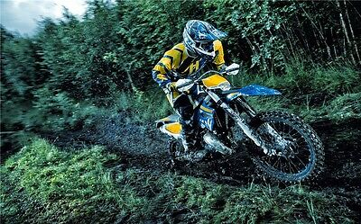 "MOTOCROSS DIRT BIKE JUMP SPORT PHOTO ART PRINT POSTER 21""x13"" 067"