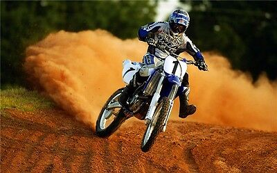 "MOTOCROSS DIRT BIKE JUMP SPORT PHOTO ART PRINT POSTER 21""x13"" 061"
