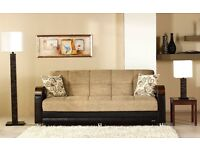 BUY - Brand New - Italian Style LARGE 3 SEATER SOFA BED With Large STORAGE + SAME DAY DELIVERY
