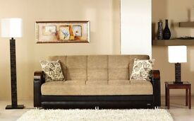 14 DAYS--CASH BACK GUARANTY- BRADN NEW LARGE HIGH QUALITY ITALIAN FABRIC SOFA BED EXPRESS DELIVERY