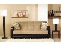 WARRENTED BRAND NEW TURKISH SOFA BED WITH HUGE STRAGE CONVERTABLE TO BED // SAME DAY DELIVERY //