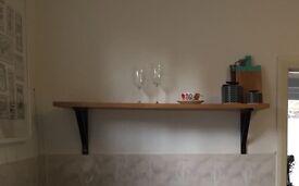 2x Ikea shelves with brackets