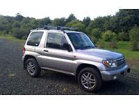 04 Mitzubishi Shogun Pinin Elegance, 1.8ltr Petrol, Manual. 65k miles, service history. 6 months MOT