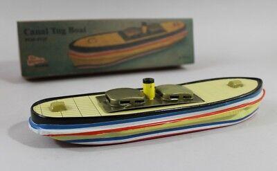 Blechspielzeug Pop Boot Kanalschlepper 10 x Kerzen Dampfboot Knatterboot