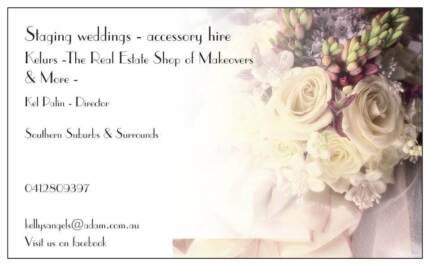 Staging weddings accessory hire & sales / DIY courses Morphett Vale Morphett Vale Area Preview