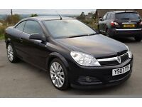 2007 Vauxhall Astra 1.9CDTi Twin Top Exclusiv Black Convertible 2d 1910cc*full heated leather seats*