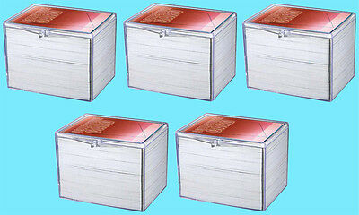 5 ULTRA PRO 150 COUNT CLEAR HINGED CARD STORAGE BOXES Case Holder Sports Trading