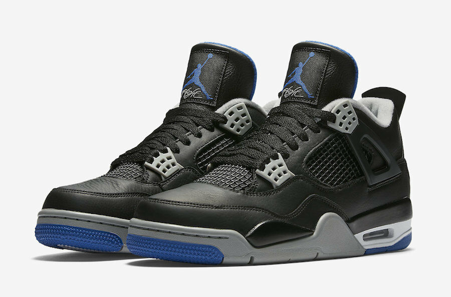 Nike - Nike Air Jordan 4 IV Retro Alternate Motorsport Black Blue Silver 308497-006