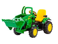 John Deere Ground Loader Tractor Digger Loader Peg Perego Kids Ride On 12Volt Battery Powered NEW