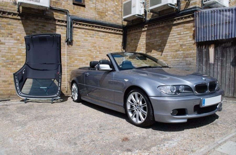 04 bmw 330ci grey m sport convertible auto hardtop black. Black Bedroom Furniture Sets. Home Design Ideas