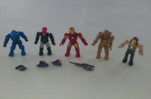 Marvel Mega Bloks figures *RARE* Iron Man Halo Red Skull Bundle Lego Minifigures