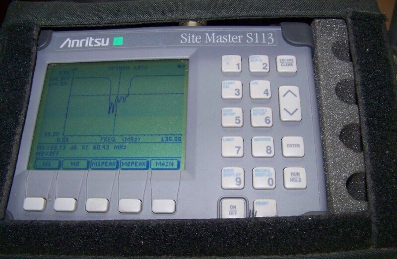 Antirsu S113 Site Master 5-1200MHz new Battery,Charger. Used S/Case Fully tested