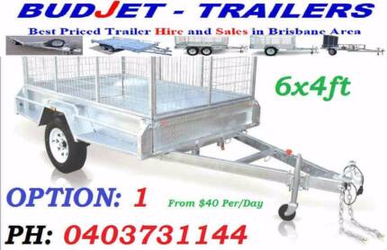 TRAILER HIRE RENTAL 6 x 4 FT GALVANIZED CAGED BOX FROM $40 P/D