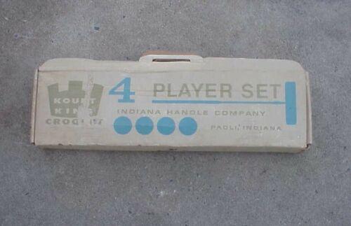 Vintage KOURT KING 4 Player Partial Croquet Set - NEW IN BOX
