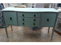 Shabby chic, early century sideboard newly finished