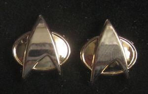 Star-Trek-Ear-Studs-Next-Generation-Communicator-New-Original-Box